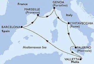 Spanien,  Frankreich,  Italien,  Malta