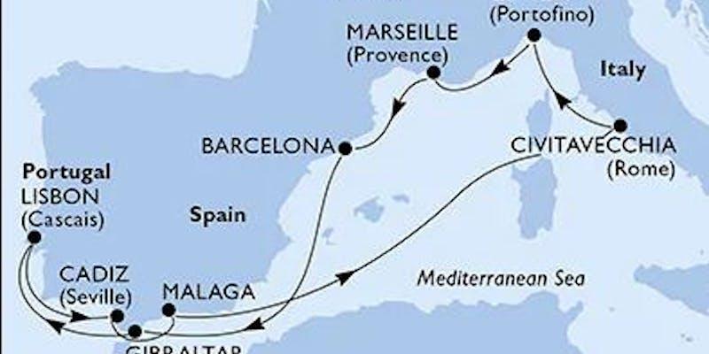 Italien,  Frankreich,  Spanien,  Gibraltar,  Portugal