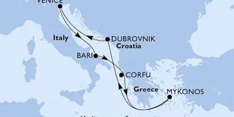 Italien,  Griechenland,  Kroatien