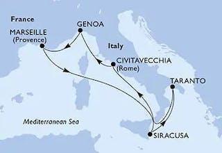 7 Nächte ab/bis Genua