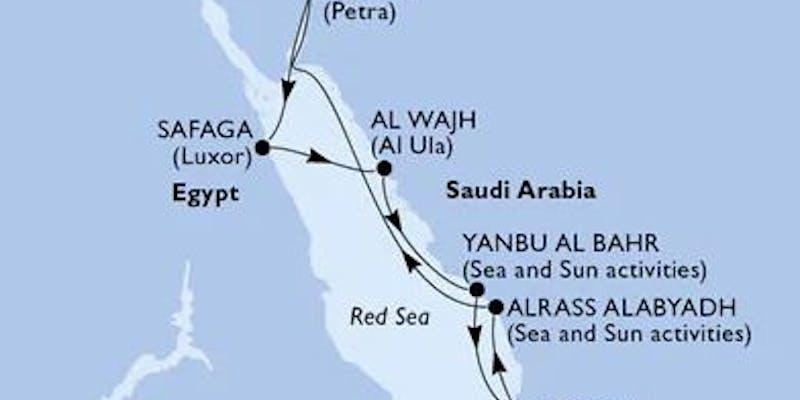 Saudi-Arabien,  Jordan,  Ägypten