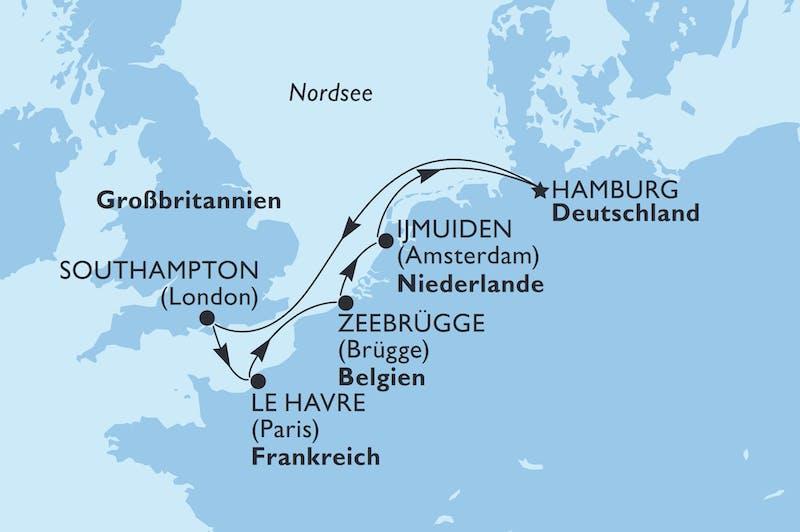 7 Nächte ab/bis Hamburg